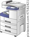 복사기 · FAX 복합 프린터 (3 형 · copier) 벡터 47582821