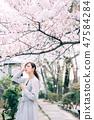 櫻桃與婦女 47584284