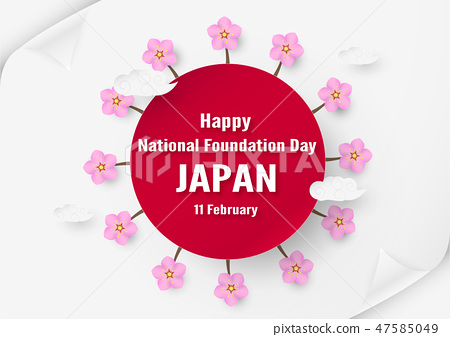 Happy National Foundation Day 2019 for Japanese. 47585049