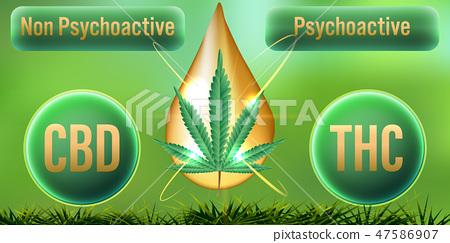 CBD Non-Psychoactive but THC Psychoactive  47586907