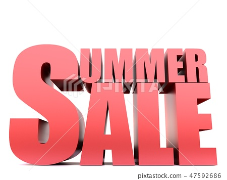 Summer sale Word ,3D render 47592686