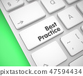 Best Practice - Message on the White Keyboard Keypad. 3D. 47594434