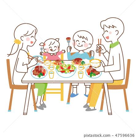和家人一起用餐 47596636