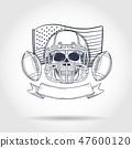 football, helmet, skeleton 47600120