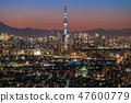 """""""日本的絕妙景色""""東京夜景·天空樹視圖 47600779"""