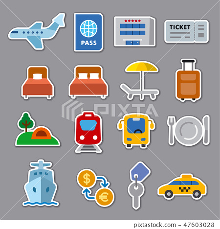 travel stickers 47603028