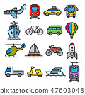transport icons 47603048