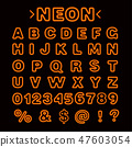 neon, font, alphabet 47603054
