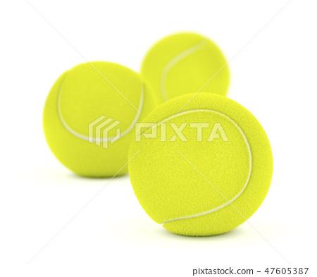 Group of tennis balls 47605387