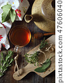 Healthy herbal tea with medicinal herbs 47606040