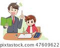 小學兒童學習男孩(動畫·遊戲風度味道) 47609622