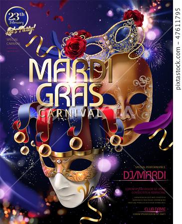 Mardi gras carnival design 47611795