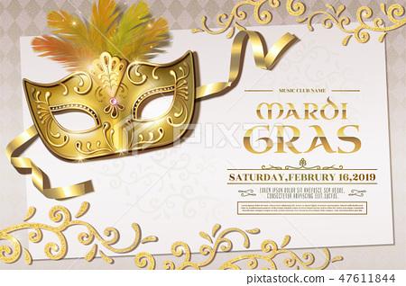 Mardi Gras party invitation 47611844