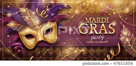 Mardi Gras party banner 47611859