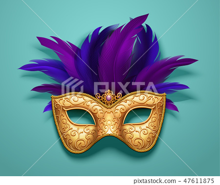 Golden carnival mask 47611875