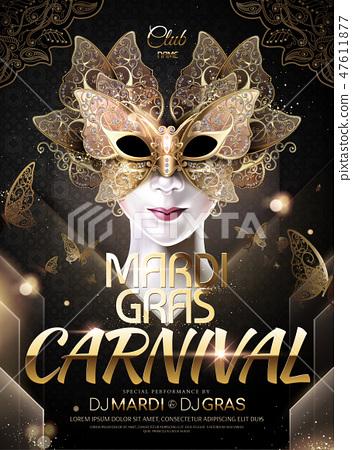 Mardi gras carnival poster 47611877