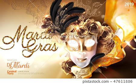 Mardi gras carnival poster 47611886