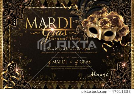 Mardi gras carnival poster 47611888