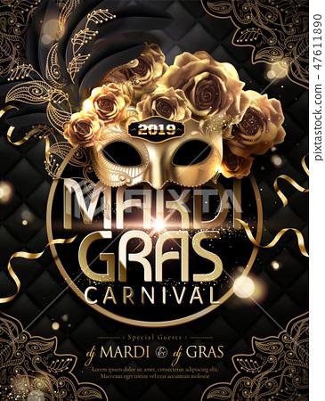 Mardi gras carnival poster 47611890