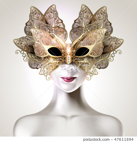Carnival butterfly mask design 47611894