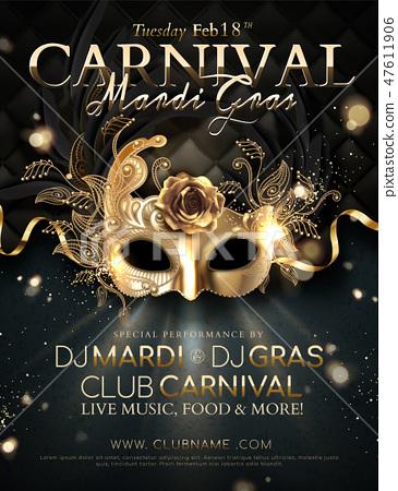 Mardi gras carnival poster 47611906