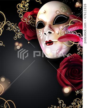 Carnival mask poster 47611926