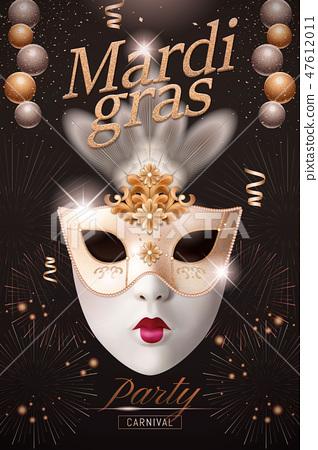 Mardi gras poster design 47612011