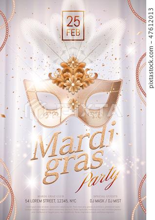 Mardi gras poster design 47612013