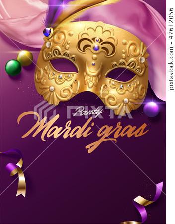 Mardi gras carnival poster 47612056