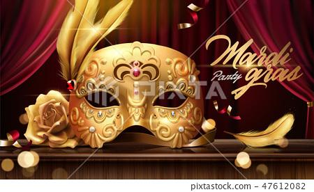 Mardi gras banner 47612082