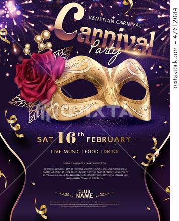 Venice Carnival poster 47612084