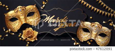 Mardi gras banner 47612091