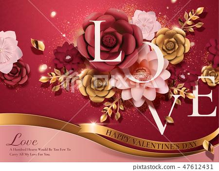 Happy valentine's day card 47612431