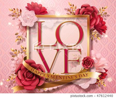 Happy valentine's day card 47612440