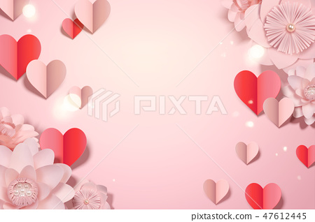 Valentine's day card template 47612445