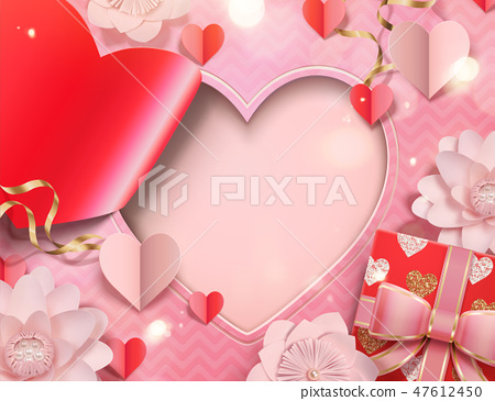 Valentine's day card template 47612450