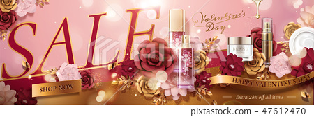 Happy Valentine's day banner 47612470