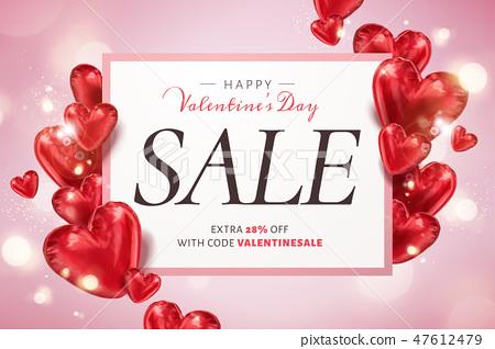 Happy Valentine's day sale 47612479