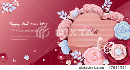 Happy Valentine's Day design 47612532