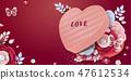 선물, 상자, 꽃 47612534