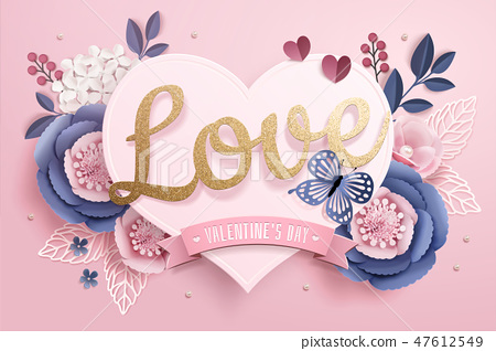 Valentine's Day with love words 47612549