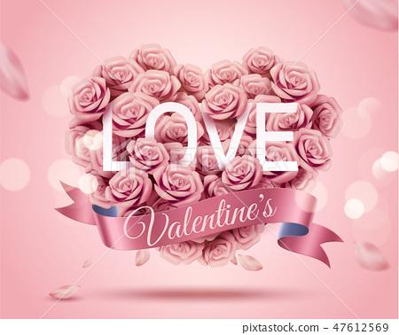 Romantic Valentine's Day template 47612569