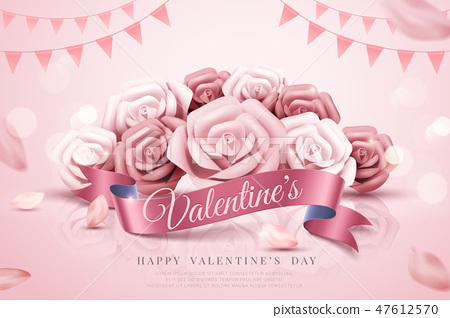 Valentine's Day decorative template 47612570