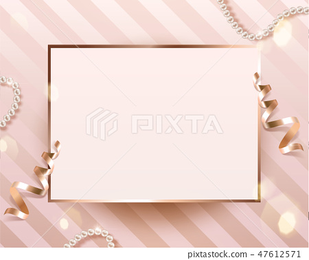 Romantic blank card template 47612571