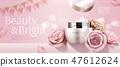 Romantic cosmetic cream banner 47612624