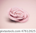 Baby pink paper rose 47612625