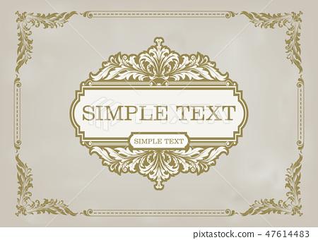decorative frame 47614483