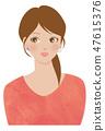 Pearl earrings women 47615376