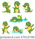alligator, animal, cartoon 47616786