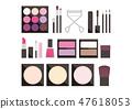 简单化妆品图粉红色类型 47618053